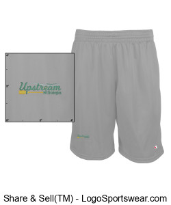 Mens Champion Mesh Short with Pockets Design Zoom