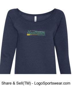 Ladies Wide Neck Sweatshirt Design Zoom